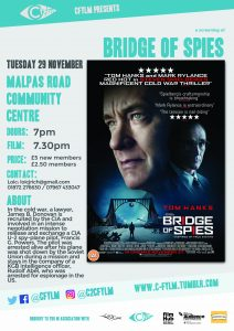 C Fylm Cornwall Malpas film club Bridge of Spies