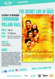 C Fylm Cornwall Hamlet film club The Secret Life of Bees